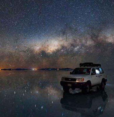 Salar de Uyuni Atardecer + Estrellas