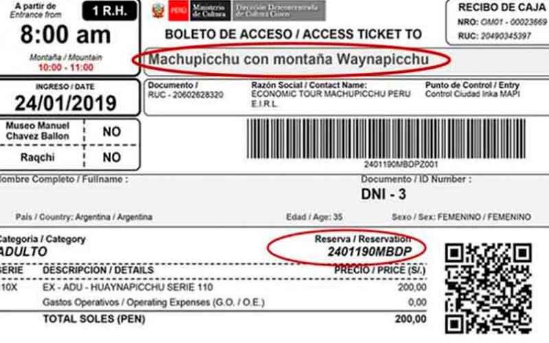 Entrada a Machu Picchu Precio 2021